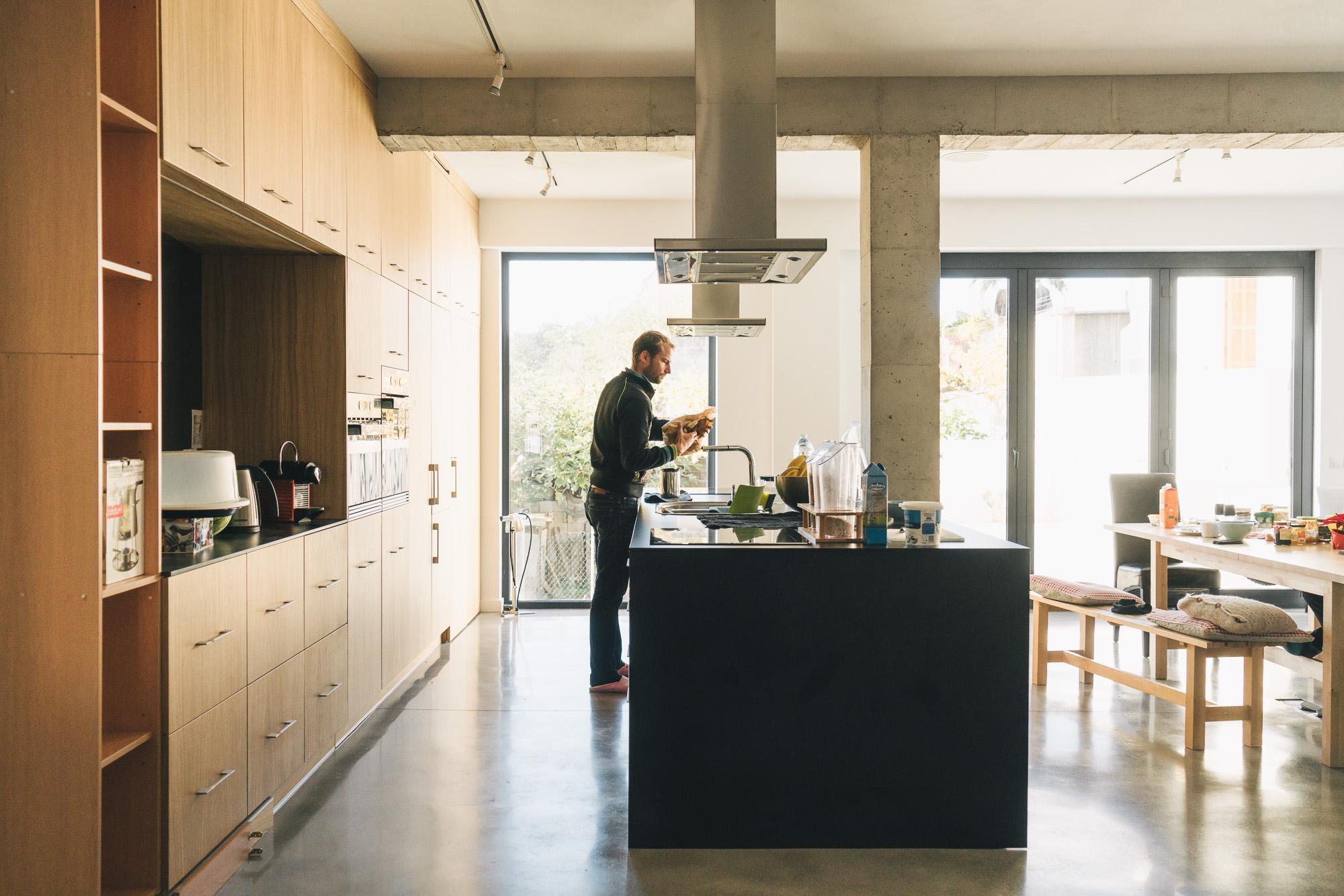 Die Wohnküche …